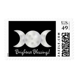 Brightest Blessings Triple Moon Postage Stamps