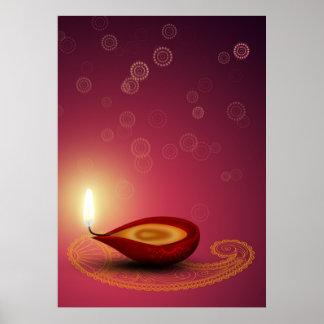 Brightful Diwali - impresión del poster