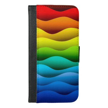 Brightly Color Waves iPhone 6/6s Plus Wallet Case
