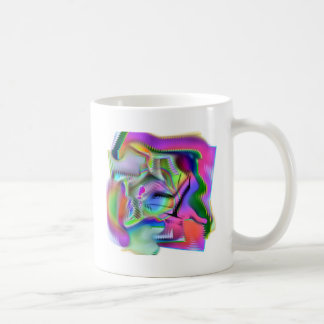 brightly colored abstract design coffee mug
