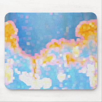 Brightly Colored Abstract Pattern Mouse Pad