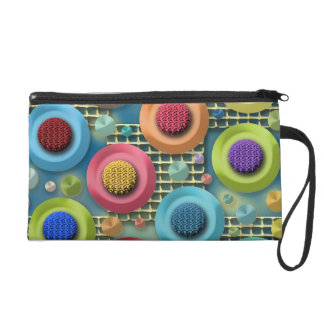 Brightly Colored Abstract Wristlet