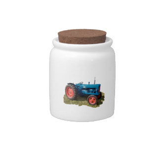 Brightly Colored Antique Vintage Tractor & Field Candy Jars
