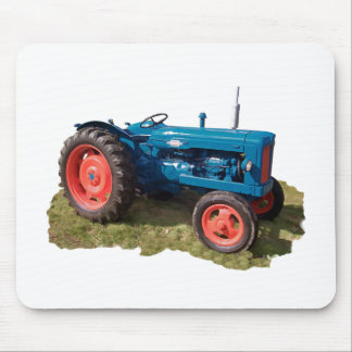 Brightly Colored Antique Vintage Tractor & Field Mouse Pad