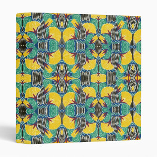 Brightly Colored Art Deco Pattern Binder