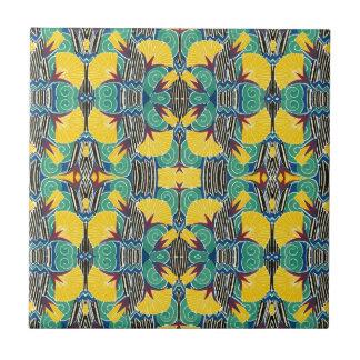 Brightly Colored Art Deco Pattern Ceramic Tile