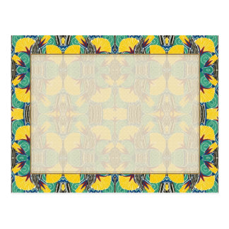 Brightly Colored Art Deco Pattern Postcard