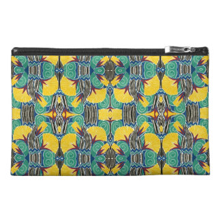 Brightly Colored Art Deco Pattern Travel Accessory Bag