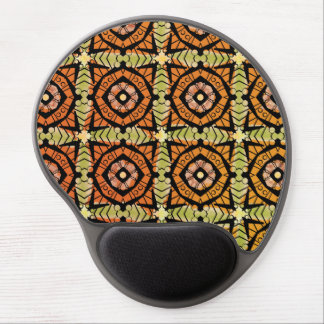 Brightly colored batik type pattern gel mouse pad