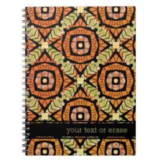 Brightly colored batik type pattern notebook