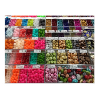 Brightly Colored Beads Colorful Crafts Postcard