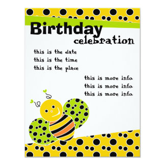 Brightly Colored Bee Card