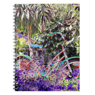 Brightly Colored Bicycle Notebook