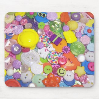 Brightly Colored Buttons mousepad