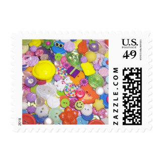 Brightly Colored Buttons Postage