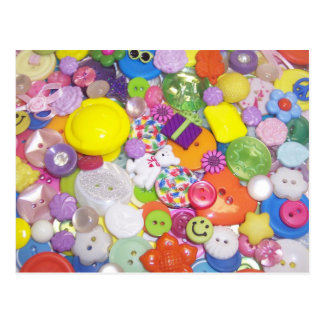 Brightly Colored Buttons Postcard