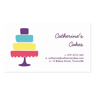 Brightly Colored Cake Bakery Business Card Template