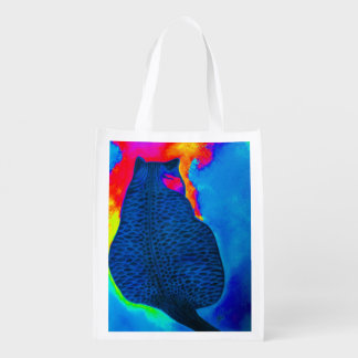 Brightly colored Cat Grocery Bag