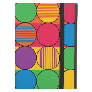 Brightly Colored Circles and Stripes Case For iPad Air
