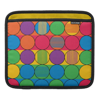 Brightly Colored Circles and Stripes Sleeve For iPads