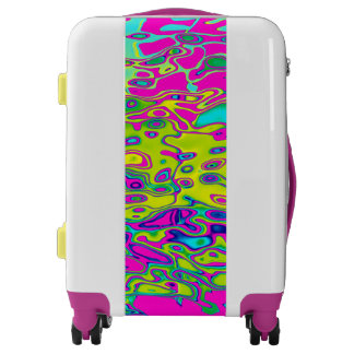 Brightly Colored Crazy Colorful Abstract Pattern Luggage