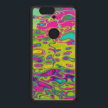 """Brightly Colored Crazy Colorful Abstract Pattern Wood Nexus 6P Case<br><div class=""""desc"""">red,  pink,  purple,  cyan,  blue,  yellow,  green</div>"""
