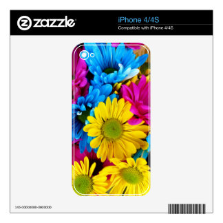 Brightly Colored Daisies Decals For The iPhone 4