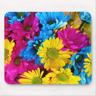 Brightly Colored Daisies Mouse Pad