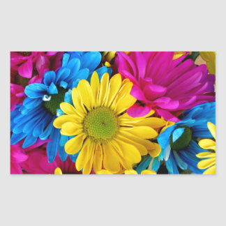 Brightly Colored Daisies Stickers