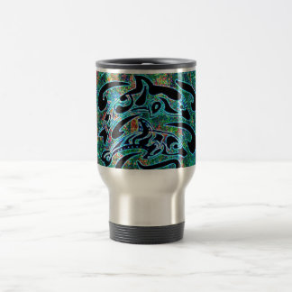 Brightly Colored Dolphins Travel Mug