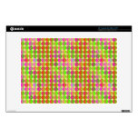 "Brightly Colored Dots 13"" Laptop Skins"