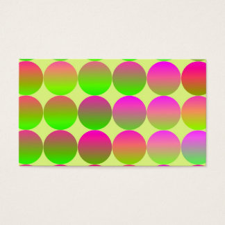 Brightly Colored Dots Business Card