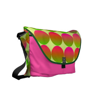 Brightly Colored Dots Messenger Bag