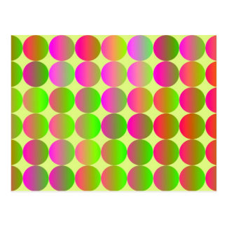 Brightly Colored Dots Postcard