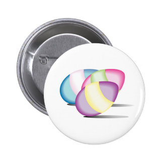 Brightly Colored Eggs with Shadow Pinback Button