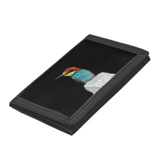 Brightly Colored European Bee Eater Vector Trifold Wallet