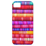 Brightly Colored Fabric Patterns Stacked iPhone 5 iPhone 5 Cases