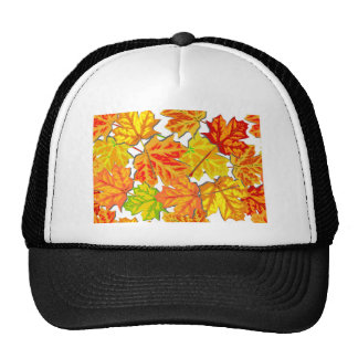 Brightly Colored Fall Leaves Hats