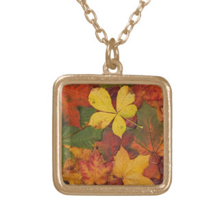 Brightly Colored Fall Leaves Pendants