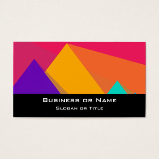Brightly Colored Geometric Triangles and Pyramids Business Card