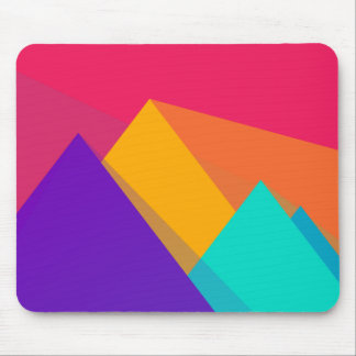 Brightly Colored Geometric Triangles and Pyramids Mouse Pad