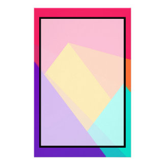 Brightly Colored Geometric Triangles and Pyramids Stationery