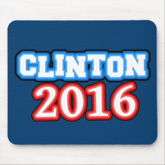 Brightly Colored Hillary Clinton 2016 Mouse Pad