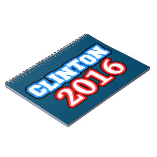 Brightly Colored Hillary Clinton 2016 Notebook