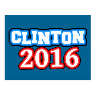 Brightly Colored Hillary Clinton 2016 Postcard