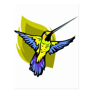 Brightly Colored Hummingbird Postcard