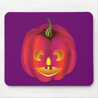 Brightly Colored Jack-O-Lantern Halloween Mouse Pad