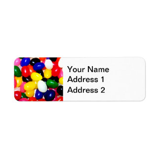 Brightly Colored Jellybeans Label