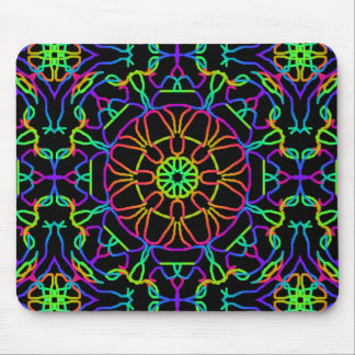 Brightly Colored Kaleidoscope Mouse Pad