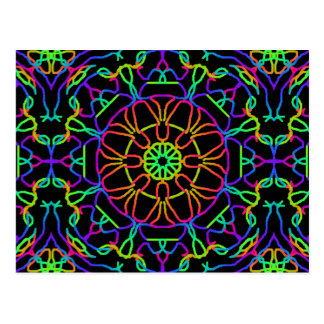 Brightly Colored Kaleidoscope Postcard